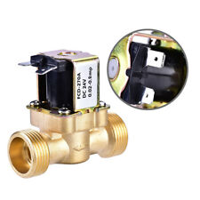 """1pcs 3/4"""" N/C Normally Closed Brass Electric Solenoid Magnetic Water Valve DC24V"""