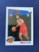 Coby White 2019-20 Panini NBA Hoops Rookie Card #295 Chicago Bulls RC