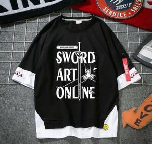 Sword Art Online SAO Cosplay Anime Manga Sports T-Shirt Shirt Kostüme Baumwolle