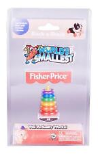 World's Smallest Fisher-Price Rock-A-Stack #506 - Rings, Micro, Mini, Toy, Small