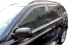 DBM11134 BMW X3 E83 5 door 2003-2010 wind deflectors 4pc set TINTED HEKO
