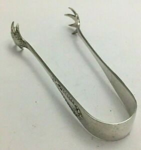 Antique Sterling Silver Claw Sugar Nips Tongs 1913