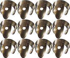 12 x Jim Dunlop Brass .015 IN Fingerpicks *NEW* 37R Finger Picks, Guitar, Banjo