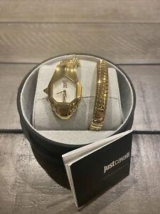 Just Cavalli gold snake watch (item A33)