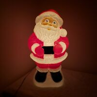 "1999 Grand Venture Lighted Plastic Blow Mold Santa 18"" Tall"