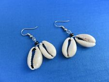 African Ethnic Jewelry SIMPLE COWRIE SHELL PAIR EARRINGS