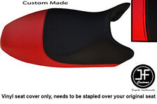 RED & BLACK VINYL CUSTOM FITS DUCATI MONSTER ALL MODELS UNTIL 07 SEAT COVER ONLY
