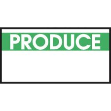 """Monarch White Labels With Reversed Green Print """"Produce"""" For 1110 1-Line Pricing"""