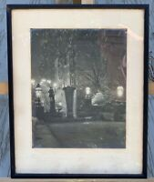 1914 Antique Baltimore Maryland Signed Centre Street Washington Place Fountain