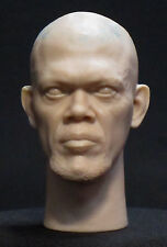 "CUSTOM HEAD SCULPT Samuel L. Jackson Nick Fury Action figure 1/6 scale  12"" H-48"