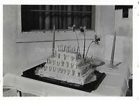 Vintage FOUND CAKE PHOTOGRAPH b and w FREE SHIPPING Original Snapshot 04 36 F