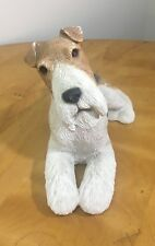 Fox Terrier/Wire Hair - Sandicast Dog Figurine Statue 1989 Sandra Brue Pre-Owned