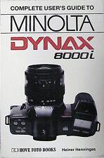 Minolta Maxxum 8000i Complete User's Guide | Hovo Press | New | 176p |