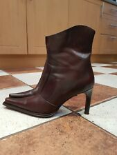 Aldo women boots real leather brown size4(37)