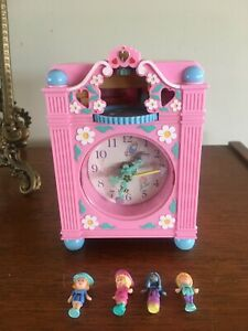 Polly Pocket 1991 Fun Time Clock Playset Clock Working