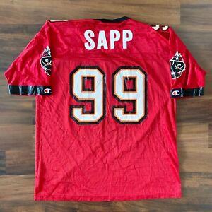 NFL TAMPA BAY BUCCANEERS CHAMPION WARREN SAPP JERSEY MENS SZ 44