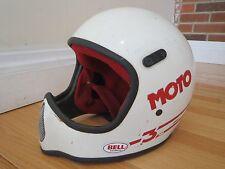 Vintage 80s Bell Moto III Pro Helmet / Bell Moto 3 Pro Helmet. Red / White