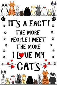Cat Lover - It's a Fact! - Flexible Magnet Sticks to any flat metal surface.