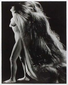 SIGNIERT Pierre Boucher Foto Original NU A LA CHEVELURE 1943 photo photomontage