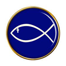 Jesus Fish Ichthys Pin Badge