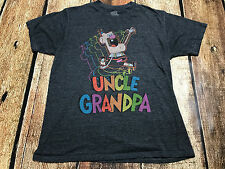 UNCLE GRANDPA GRAPHIC T-SHIRT GREY MENS SIZE MEDIUM EUC