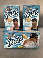 Michael Phelps collectable Rice Krispies Treats box Collection Of 3.
