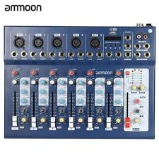 ammoon 7 Channel Mixer USB Mixing console DJ& Karaoke Mixer 48v Phantom Z7Y3