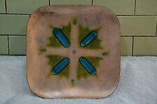 "Vintage Large Finland modernist enamel on copper plate  abstract 12"" (25)"