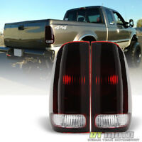 1997-2003 Ford F150 99-07 F250 F350 SuperDuty Red Smoke Tail Lights Brake Lamps
