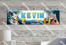 Personalized Customized SpongeBob Name Banner Wall Decor Poster with Frame Set