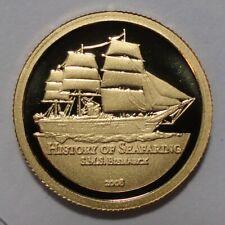 2008 SAMOA $10 Dollars S.M.S BISMARCK 1 g 24K gold  RARE