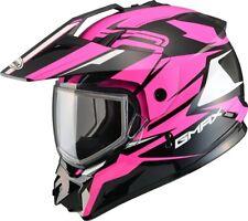 Gmax Mujer GM11S casco de moto de nieve vertical de Nieve Deporte Hi-Viz/Rosa XS-XL