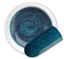 Kaus Blue 085 GEL UV E LED GLITTER COLORATO RICOSTRUZIONE UNGHIE NAIL ART