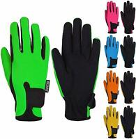 Kids Equestrian Grip Horse Riding Gloves Children Horseback Bike Ski Youth Mitts