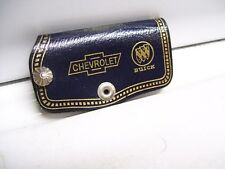 Vintage 60 70s original GM CHEVROLET promo leather case auto key holder nos gmc