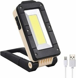 USB LED Work Light COB Inspection Lamp Magnetic Torch Rechargeable Car Garage