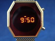 Reloj Digital Caballeros Moderno Grueso 1970s Vintage Style Retro LED LCD 12 y 24 horas