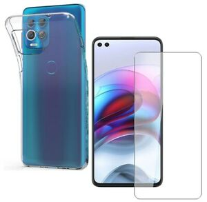 For MOTOROLA MOTO EDGE S CLEAR CASE + TEMPERED GLASS SCREEN PROTECTOR COVER