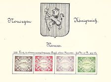 NORWAY LOCALS:  1888 unused sets of four - 70207