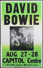DAVID BOWIE - HIGH QUALITY VINTAGE CONCERT POSTER - LOOKS AWESOME FRAMED