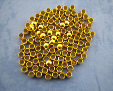 300 x Gold Plated Crimp End Beads Craft Jewellery Findings - 3mm - L01252
