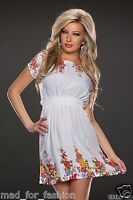 SUMMER MINI DRESS WITH FLORAL PRINT. UK 8/10 EU 36/38.