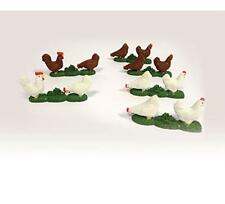 Tomy 42812 Britains Childrens Toy Set of 12 Chicken Figures Farm Accessory - New