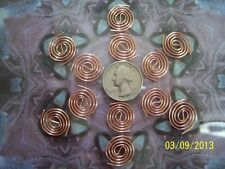 12 Copper Coils - Itty Bitty's For Reiki Crystal Grid Orgone Making Supplies
