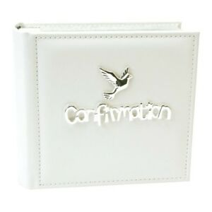 """Confirmation Gift Leatherette  Photo Album Holds 100 6x4"""" Photos Gift Idea"""