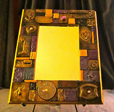 CALL of the WILD mosaic tiled mirror is handmade 9x11 (5x7 mirror), spectacular!