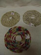 Vintage Multi Color Mercury Glass Bead Christmas Tree Garland, # 2