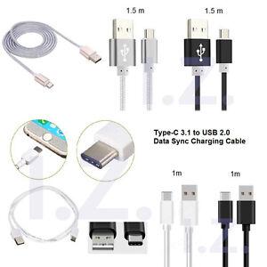 1m/1.5m Type C Charging Data Sync Cable Fit Motorola Moto G 5G Plus G9 Power