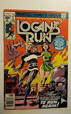 Logans Run #6 (Marvel,1977) 1st SOLO THANOS! Drax the Destroyer!! Key Book (FN)