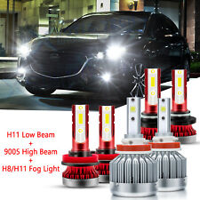 For Mazda 5 2012-2017 CX-5 2013-2016 LED Headlight Fog Light Bulbs Kit 9005 H11